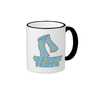 Funny Cranky Pants Design Ringer Coffee Mug
