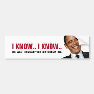 Funny - Crash into Obama Car Bumper Sticker