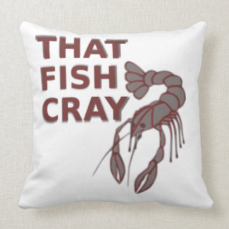 Funny Crawfish Design Pillow