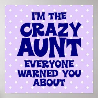 Funny Crazy Aunt Print