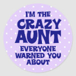 Funny Crazy Aunt Stickers