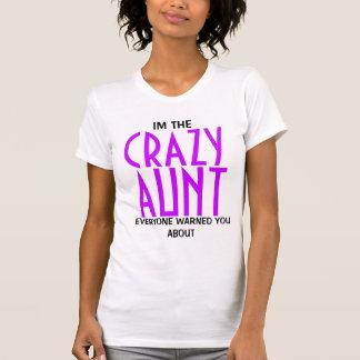 Funny Crazy Aunt Tee Shirt