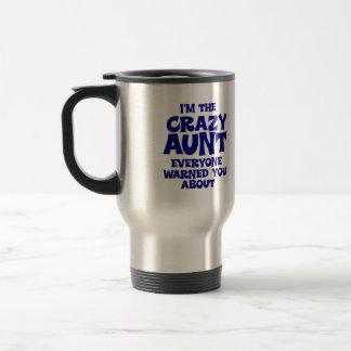 Funny Crazy Aunt Travel Mug