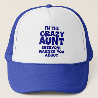 Funny Crazy Aunt Trucker Hat