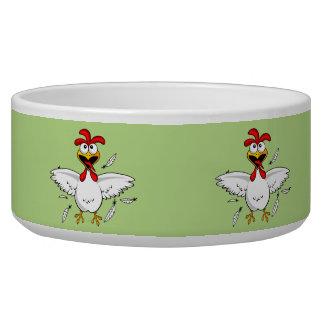 Funny Crazy Cartoon Chicken Wing Fling Bowl