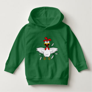 Funny Crazy Cartoon Chicken Wing Fling Hoodie