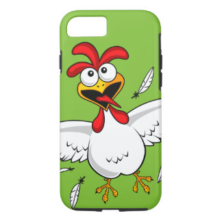 Funny Crazy Cartoon Chicken Wing Fling iPhone 8/7 Case