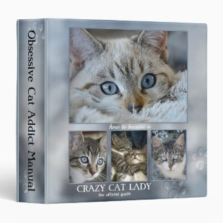 Funny Crazy Cat Lady Photo Binder