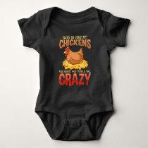 Funny Crazy Chicken Lover Gift Hen Humor Baby Bodysuit