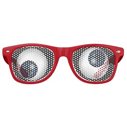 Funny Crazy Eyes Retro Sunglasses