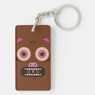 Funny crazy monster acrylic keychain