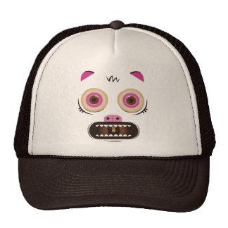 Funny crazy monster trucker hat