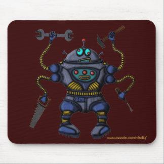 Funny crazy robot mousepad design