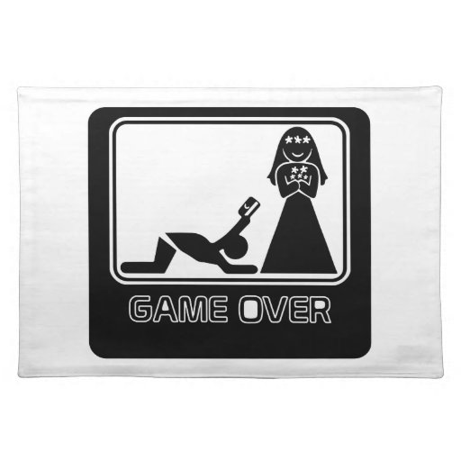 Funny Credit Card Game Over Placemat Zazzle