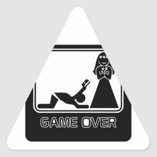 Funny Credit Card Game Over Triangle Sticker