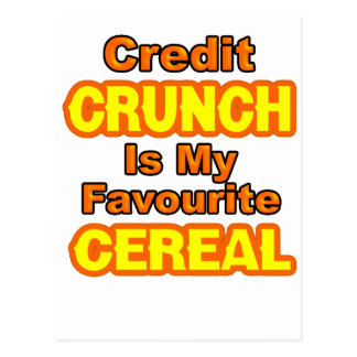 Funny Credit Crunch Postcard