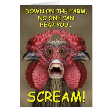 KryfoldSky Funny Creepy Chicken Monster Greeting Card
