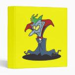 funny creepy vampire catoon character vinyl binders