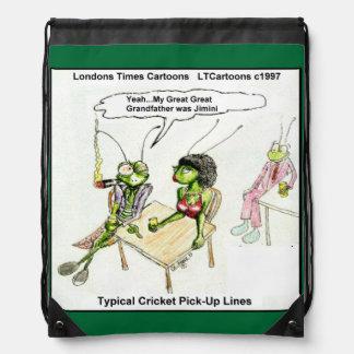 Funny Cricket Pick-Up Lines Drawstring Backpack