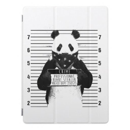 funny crime panda iPad pro cover