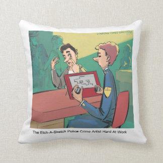 Funny Crime Sketch Artist Rick London Throw Pillow