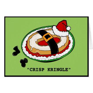 FUNNY CRISP KRINGLE CHRISTMAS GREETING CARD