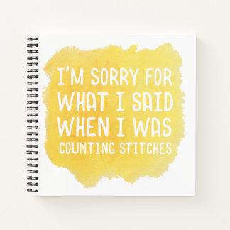 Funny Crochet Stitch Notebook