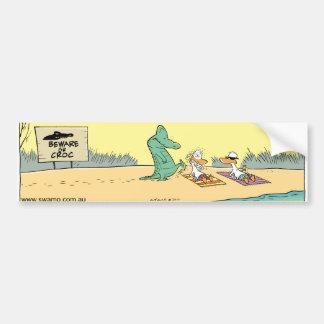 Funny Crocodile Attack Swamp Cartoon Bumper Sticke Bumper Sticker