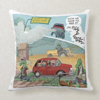 Funny Crocodile Farm Cotton Throw Pillow
