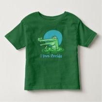 funny crocodile i love florida cartoon toddler t-shirt