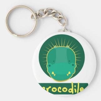 funny crocodile keychain