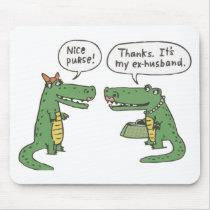 Funny Crocodile Mouse Pad