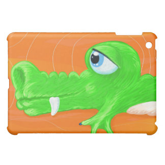 Funny crocodile painting, iPad case