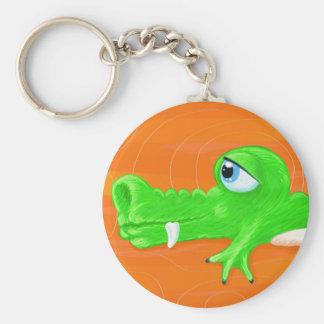 Funny crocodile painting, keychain