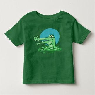 funny crocodile shown ok sign cartoon toddler t-shirt