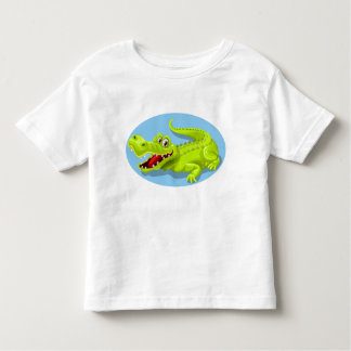 funny crocodile toddler t-shirt
