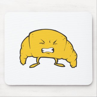 funny croissant cartoon character mouse pad