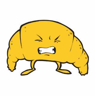 funny croissant cartoon character photo cutout