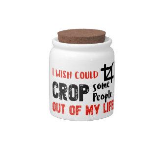 Funny crop people Geek designs Candy Jars