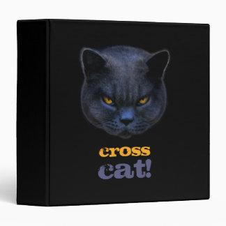 Funny Cross Cat 3 Ring Binders