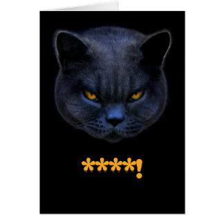 Funny Cross Cat says ****! Card