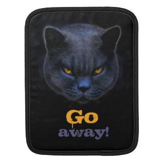 Funny Cross Cat says Go Away Sleeve For iPads