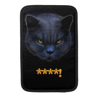 Funny Cross Cat says ****! MacBook Air Sleeve