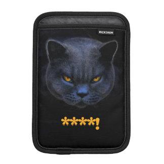 Funny Cross Cat says ****! Sleeve For iPad Mini