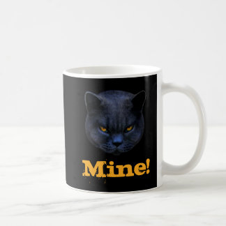 Funny Cross Cat says Mine! Coffee Mug