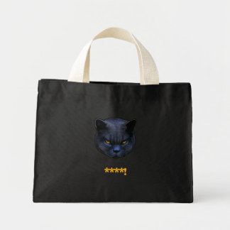 Funny Cross Cat says ****! Mini Tote Bag