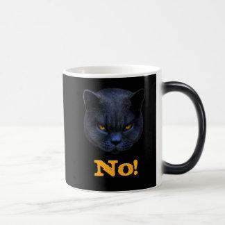 Funny Cross Cat says No Magic Mug