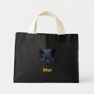 Funny Cross Cat says No Mini Tote Bag