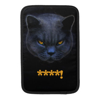 Funny Cross Cat says ****! Sleeves For MacBook Air