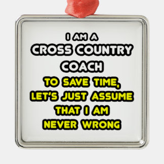 Funny Cross Country Coach T-Shirts and Gifts Christmas Ornaments
